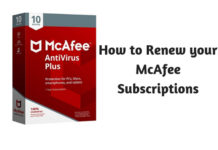 How to Renew your McAfee Subscriptions
