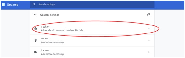 cookies Google Chrome