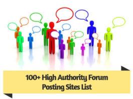 100 High Authority Forum Posting Sites List