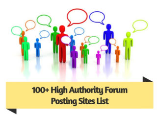 100 High Authority Forum Posting Sites List