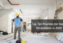 Top Ten Priorities for Home Renovations in 2020