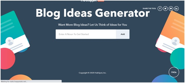 Blog Topic Generator by HubSpot